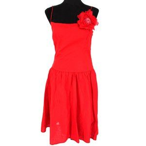 NWT Ralph Lauren Black Label Red Dress Flower Pin